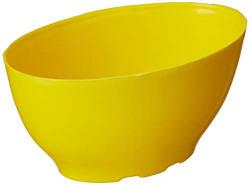 Gardens Need 100% Virgin Plastic Butter Cup-06 | Set of 5 Pots, (15cm x 13cm x 10cm, Yellow)