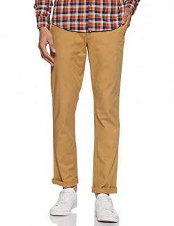 blackberrys Men's Relaxed Fit Casual Trousers (EK-KELLAN-90# Khaki 30)