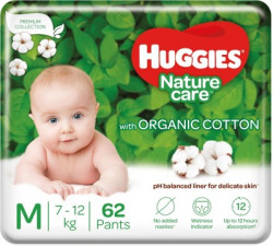 Huggies Nature Care Pants with organic cotton - M(62 Pieces)
