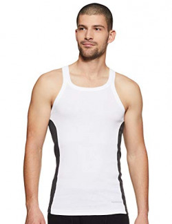 Fruit of the Loom Men's Solid Vest (MFV01-N-A1S5-WHT-XL)