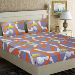 Home Candy 120 TC Microfiber Double Floral Bedsheet(Pack of 1, Multicolor)