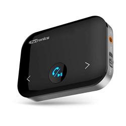Portronics Auto 14 2-in-1 Bluetooth Transmitter & Receiver Adaptor (Black)