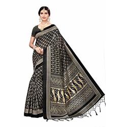 ANNI DESIGNER Women's Art Silk Saree with Blouse Piece