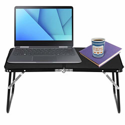 Storite Multipurpose Light Weight Ergonomic Foldable and Rounded Edges Laptop Table for Home , Office (Black, 60 x 40 x 26 cm ; Light Weight :1.2 kg )