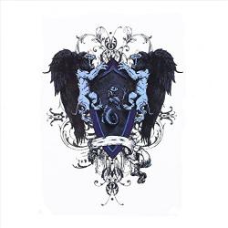 S.A.V.I 3D Temporary Tattoo Waterproof Sticker Beautiful Black Big Winged Man Popular New Designs Size - 21x15cm (126), Multicolor, 4 g