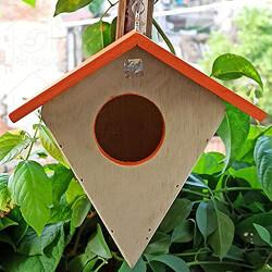 PetNest Diamond HG2 Hanging Bird House, Wood (17 cm x 17 cm x 15 cm) (DIY)