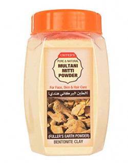 United's Pure & Natural Multani Mitti Powder (Fuller's Earth) 200 Grams For Face, Skin,Hair Care.
