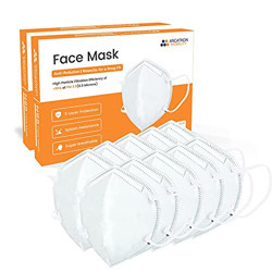 ARCATRON MOBILITY Reinventing Assisted Living Fabric Face Mask for Unisex (White, Without Valve, Pack of 10)