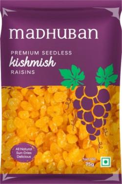 Madhuban Premium Seedless Raisins(75 g)