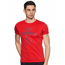 Beat London by Pepe Jeans Men's Printed Regular fit Polo (BM500074_Red XL)