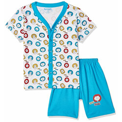 Bumchums Baby Boy's Cotton Clothing Set (J192_Assorted Printed_Large)