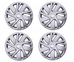 Auto Pearl - Car Full Caps Silver 14inches Wheel Cover for - I20