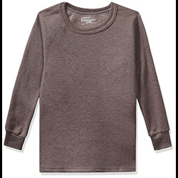 Rupa Thermocot Boys' Plain Cotton Thermal Top (AGNIKIDSRNFS_Brown_65)