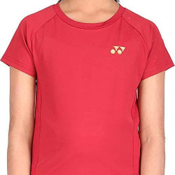 Yonex 1516-31 Polyester Badminton Ladies Round Neck T-Shirts, L (Sun Dried Tomato)
