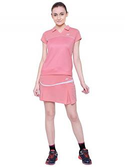 Yonex 1136-30 Polyester Badminton Girls Skirt, Medium (Flamingo Pink)