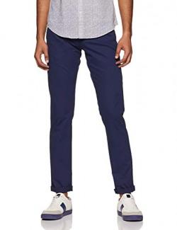Allen Solly Men's Slim Fit Casual Trousers (ASTPWSRFE78198_Navy_34W x 34L)