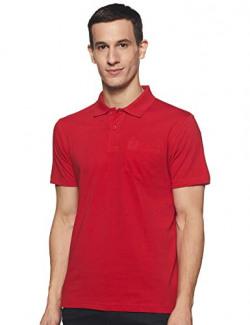 Macroman M-Series Men's Solid Regular fit T-Shirt (M9009_Dull Red Small)