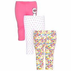 Life Girls Floral Print Solid and Dot Pattern Pyjamas-Pack of 3 Pajama Set (206208279_Multi_6-9 Months)
