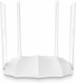 TENDA AC5 V3 AC1200 Dualband Router 867Mbit/s 5GHz + 300Mbit/s 2.4GHz, IPV6, Parental Control, Guest Network, 4*6dBi externe Antennen, WPS 1167 Mbps Router(White, Dual Band)