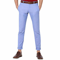 Allen Solly Men's Slim Fit Casual Trousers (ASTFWSRFA01486_Blue_32W x 34L)