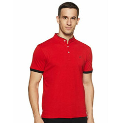 Cazibe Solid Regular Men's T-Shirt (CZ11113_Red M)