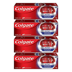 Colgate Visible White Instant Toothpaste - 100gm (Pack of 4)