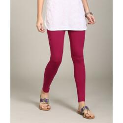 GLOBAL DESI Churidar  Ethnic Wear Legging(Pink, Solid)
