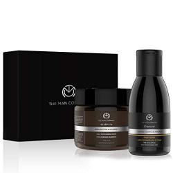 The Man Company Deep Care Combo | Charcoal Face wash 100 ml + Shea Butter & Vitamin E Moisturizing Cream 50 gms | All Skin | Anti Pollution, Deep Moisturizing