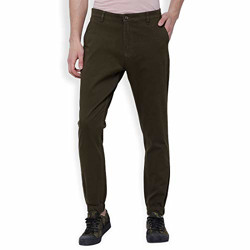 Horsefly Men's Slim Fit Casual Trousers (HPTR000046_Green_34)