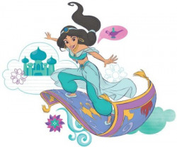 ASIAN PAINTS Large Wall-ons Jasmine Magic Carpet Official Wall Sticker(Pack of 1)