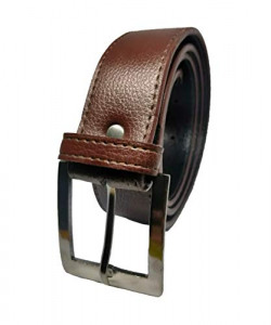 Alpha Nemesis Men's Synthetic Belt (an FB 04 BN 36_Brown_Large)
