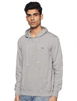 Park Avenue Men's Plain Regular fit T-Shirt (PZUC00471-G1_Light Grey 90)