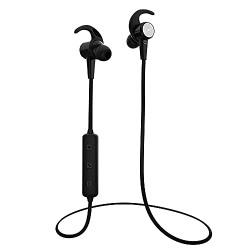 (Renewed) Quantum SoundShot 1, in-Ear Bluetooth 5.0 Wireless Headphones, High Bass, Snug fit, Splash Resistant, Sweat Proof Lightweight with Mic - (Black)