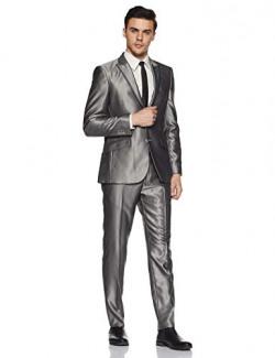 Raymond Men's Poly Viscose Suit Trousers (RIDS00270-G3_Medium Grey_100)