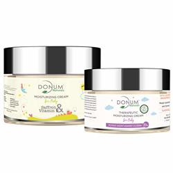 Donum Naturals Baby Combo of Saffron, Vitamin F Cream and Therapeutic Moisturizing Cream - (60 g, 50 g)