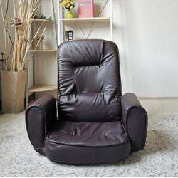 FurnCentral Easy-0603-12 Dark Brown Floor Chair