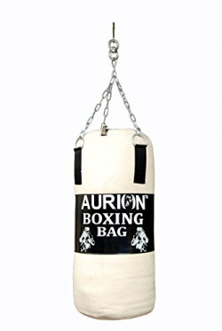 AURION CANVAS Punching Bag- Black - FILLED 2 FEET WITH FREE CHAIN