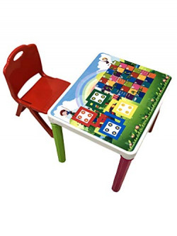Surety for Safety Kids Study Table & Chair (Orange)