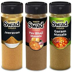 Panjon Swad Pav Bhaji Masala, Jeeravan Poha Masala & Garam Masala   0% Preservative (3 bottles) 300g