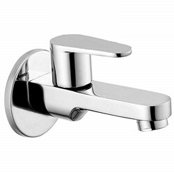 Ivaan Nova Brass Quarter Turn Fittings Long Body Bib Cock Taps for Bathroom (Chrome Finish)