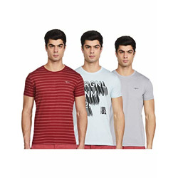 Integriti Men's Slim T-Shirt (Pack of 3) (INT-TRI-107_Multicolour M)