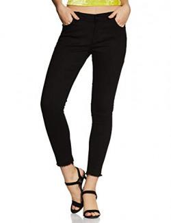 ABOF Womens Western Skinny Fit Mid Rise skinnyfit Jeans (BOA19AWWWJS3619065_Black_30)