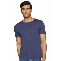 GAP Men's T-Shirt (141578400011_23867080207_Small_Navy Uniform)
