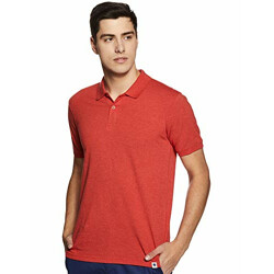 Amazon Brand - Symbol Men's Solid Regular fit Polo (SYPLPC-01-A_Estate Red_L)