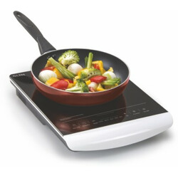 Glen SA 3074 with Touch Induction Cooktop(White, Touch Panel)