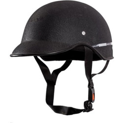 MOTOFLY Stick Small Cap Motorbike Helmet(Black)