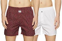 Amazon Brand - Symbol Men's Printed Boxers (Pack of 2) (Symbxrpo2-701_Multicolor-20-XX-L)