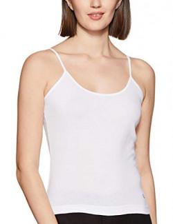 Macrowoman Women's Cotton Spaghetti Top (MW2311_White_XL)