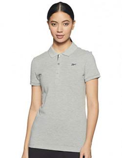Reebok Women's Slim Polo Shirt (GR1548_MGREYH Small)