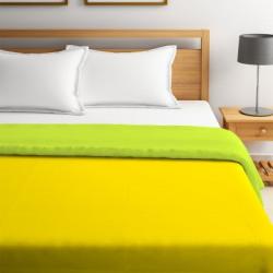 STELLAR HOME Solid Queen Comforter(Polyester, Lemon Yellow)